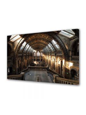 Tablou Canvas Luminos in intuneric VarioView LED Vintage Aspect Retro Vedere in muzeul britanic