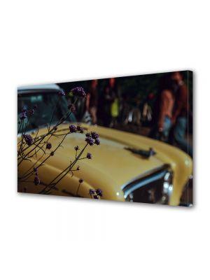 Tablou Canvas Vintage Aspect Retro Masina vintage galbena