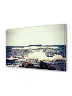 Tablou Canvas Vintage Aspect Retro Valuri pe coasta