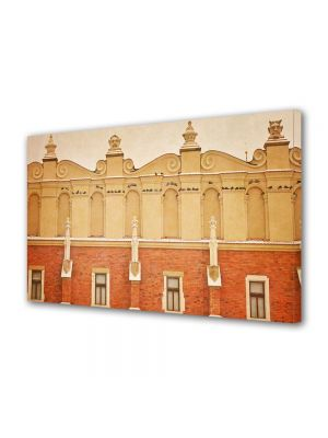 Tablou Canvas Vintage Aspect Retro Fatada portocalie