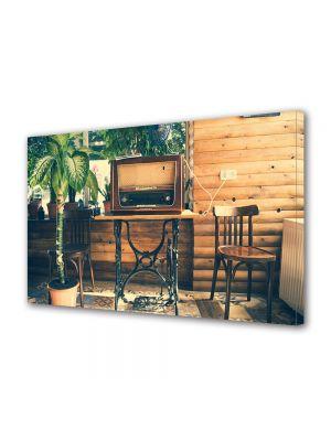 Tablou Canvas Luminos in intuneric VarioView LED Vintage Aspect Retro Radio vintage