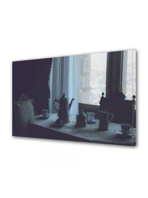 Tablou Canvas Luminos in intuneric VarioView LED Vintage Aspect Retro Ceaiul de la ora cinci