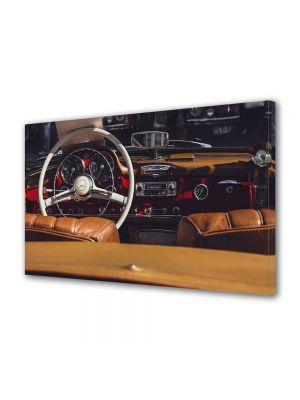 Tablou Canvas Luminos in intuneric VarioView LED Vintage Aspect Retro Interior retro Mercedes
