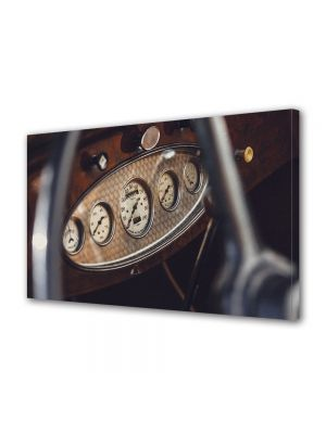 Tablou Canvas Luminos in intuneric VarioView LED Vintage Aspect Retro Bord vintage auto