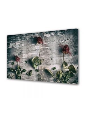 Tablou Canvas Vintage Aspect Retro Aranjament trandafiri uscati