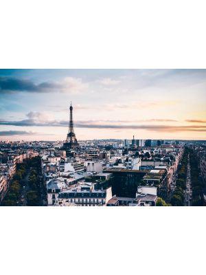 Tablou Canvas Paris si Turnul Eiffel 40 x 60 cm